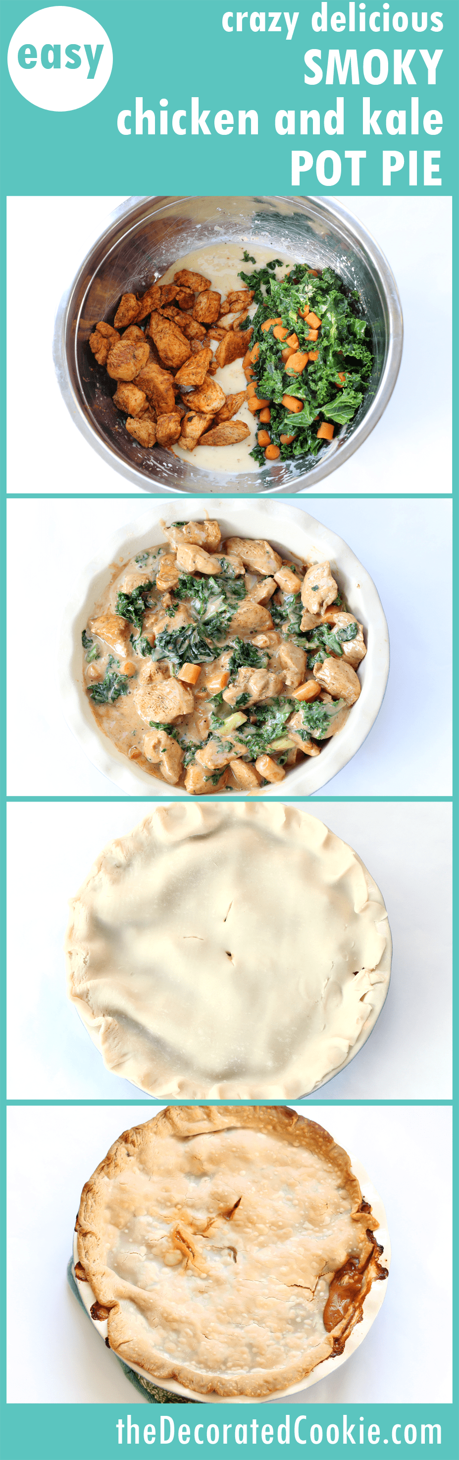 spicy smoky chipotle chicken and kale pot pie