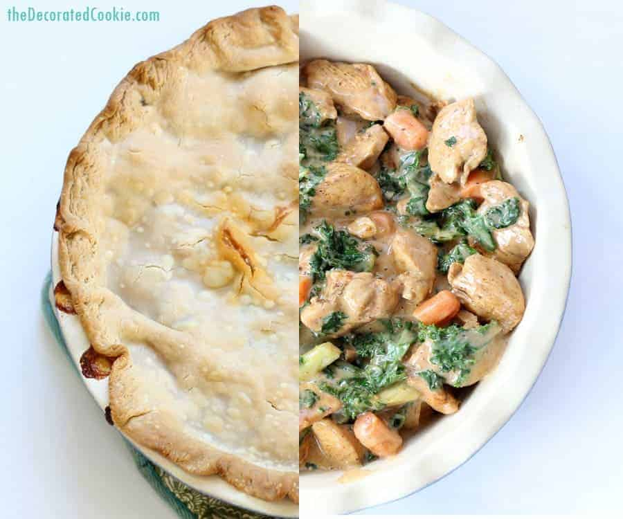 smoky chipotle chicken and kale pot pie