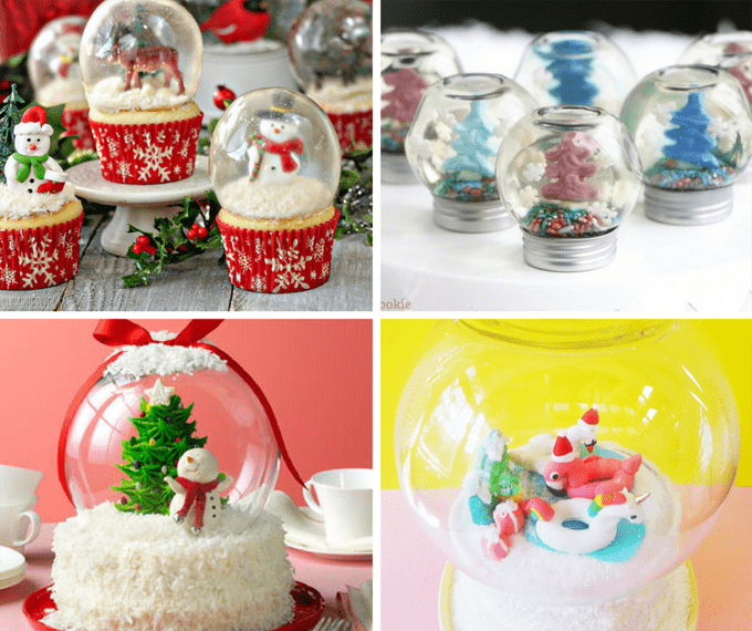 16 edible snowglobes for Christmas