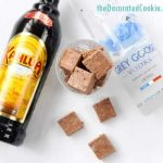 White Russian boozy fudge