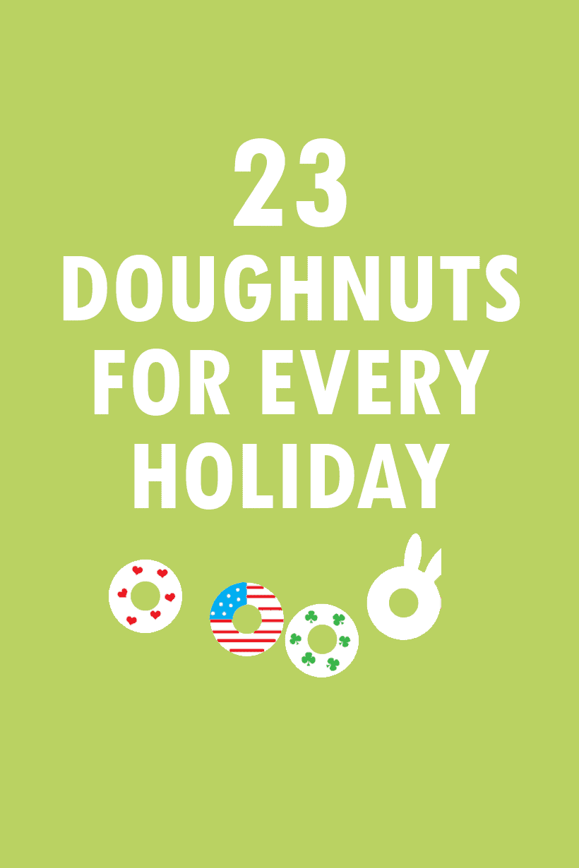 oughnuts for every holiday of the year - a roundup