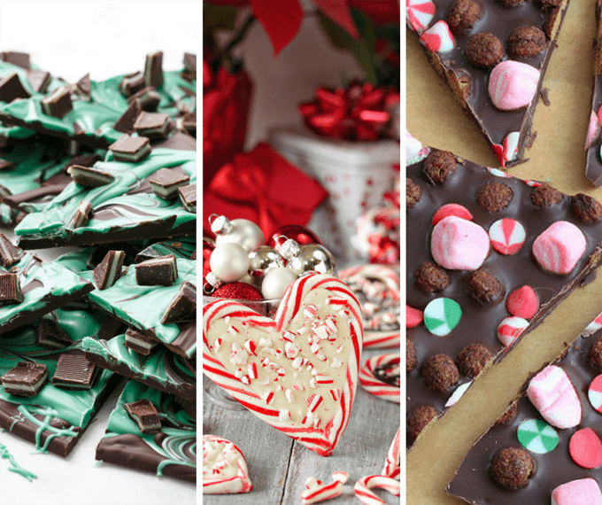 easy chocolate bark ideas for Christmas, great homemade gift idea