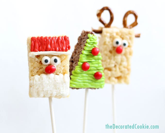 Rice Crispy Treat Christmas.Christmas Rice Krispie Treats Shortcut Christmas Treat Idea