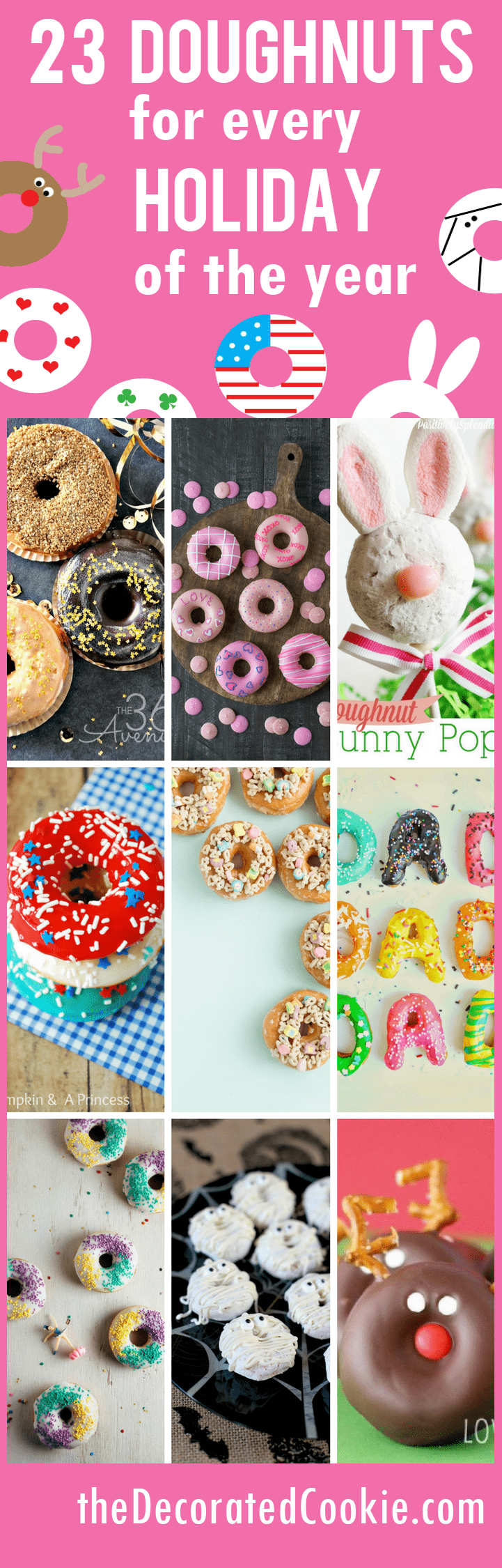 roundup of doughnuts for every holiday of the year