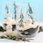 ice box cake snow globe dessert