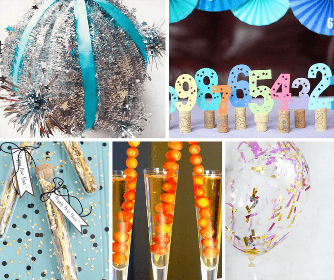 25 awesome DIY ideas for New Year's Eve