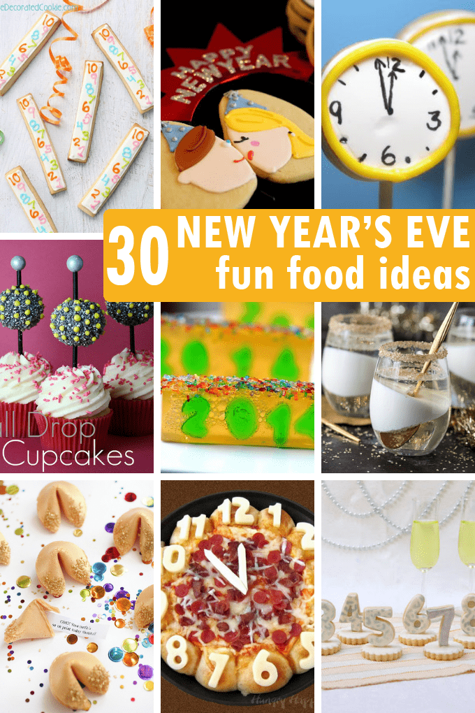 A roundup of 30 fun food ideas for your NEW YEAR'S EVE party.