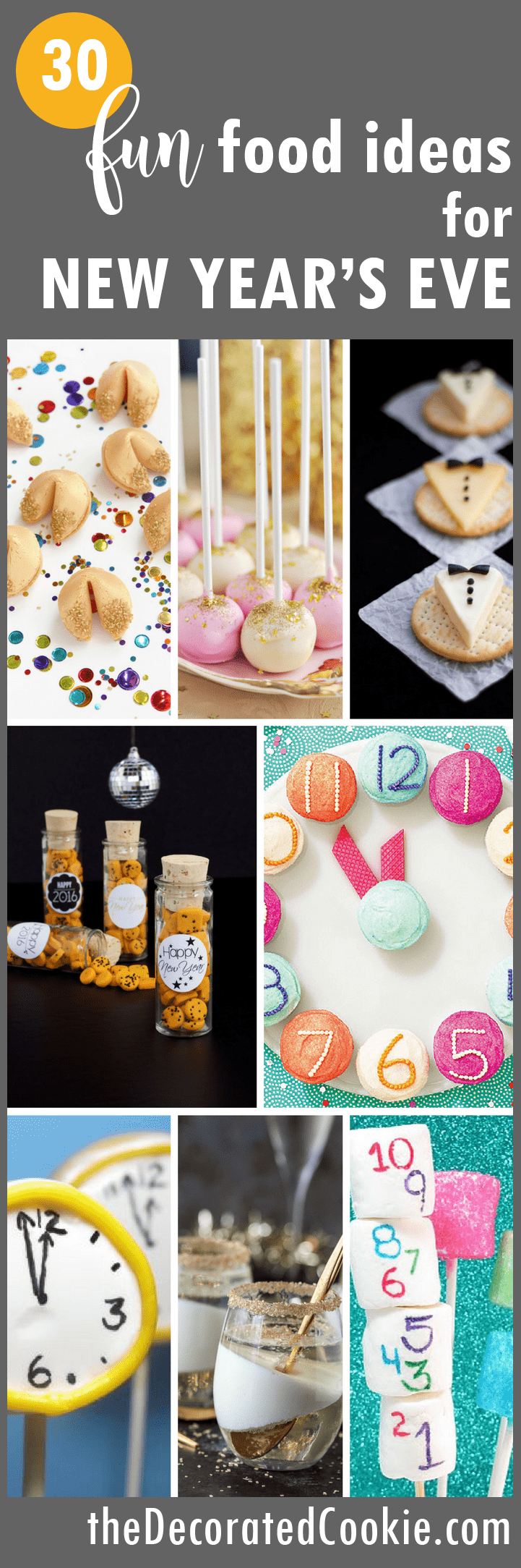 A roundup of fun food ideas for your New Year's Eve party.