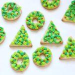 Christmas wreath and tree cookies