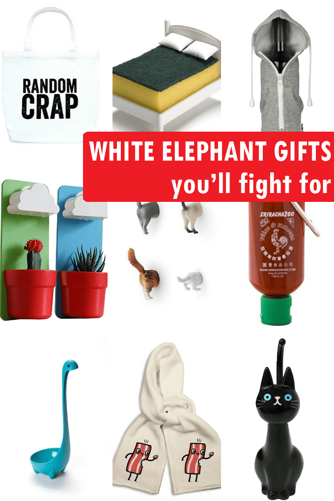 A roundup of 25 white elephant gifts that are actually awesome. White elephant gifts for your Christmas party that people will actually want.