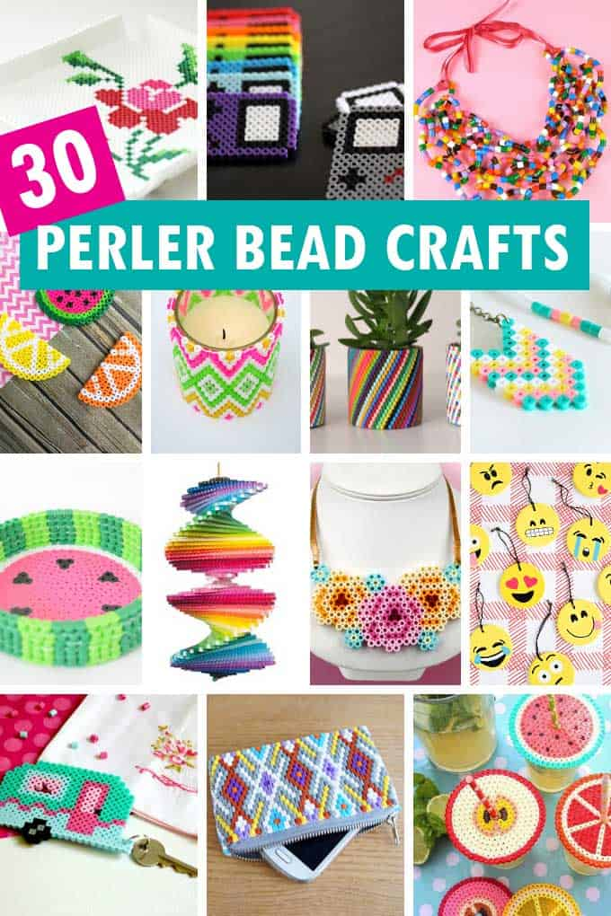 perler bead crafts collage