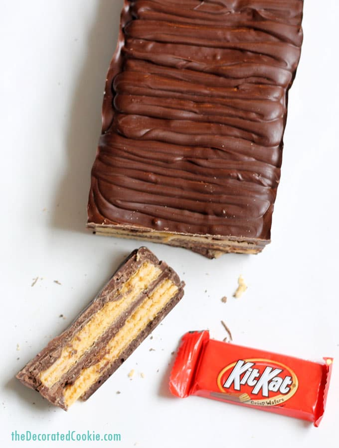 giant homemade Kit Kat Bar