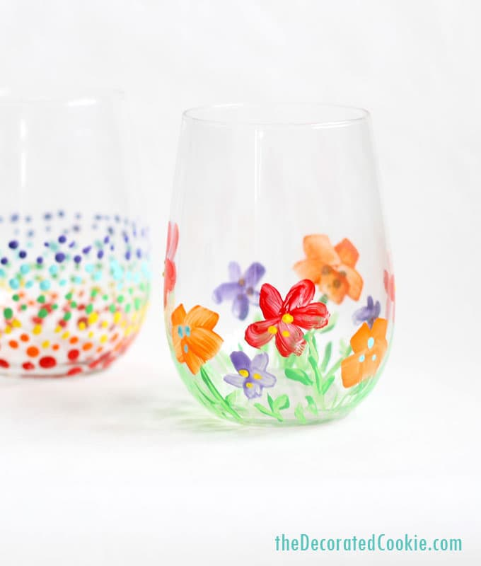 how to paint on wine glasses