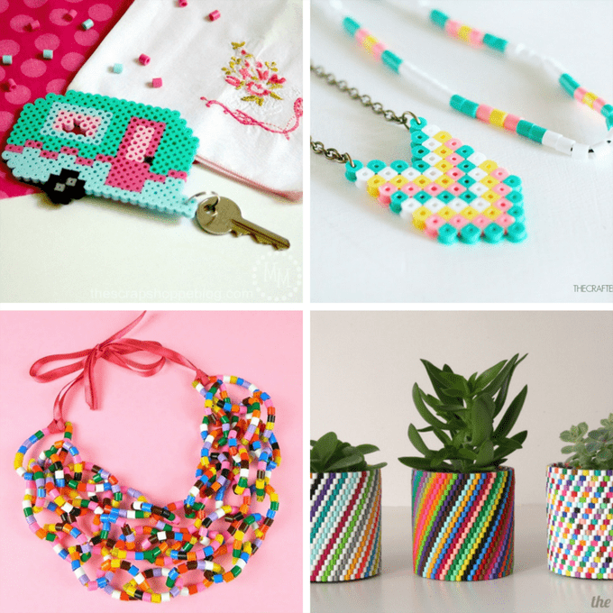 A Roundup Of 30 Amazing Perler Bead Ideas Crafts Home Decor Jewelry