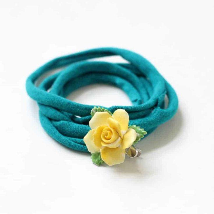 EASY NO-SEW T-shirt bracelets
