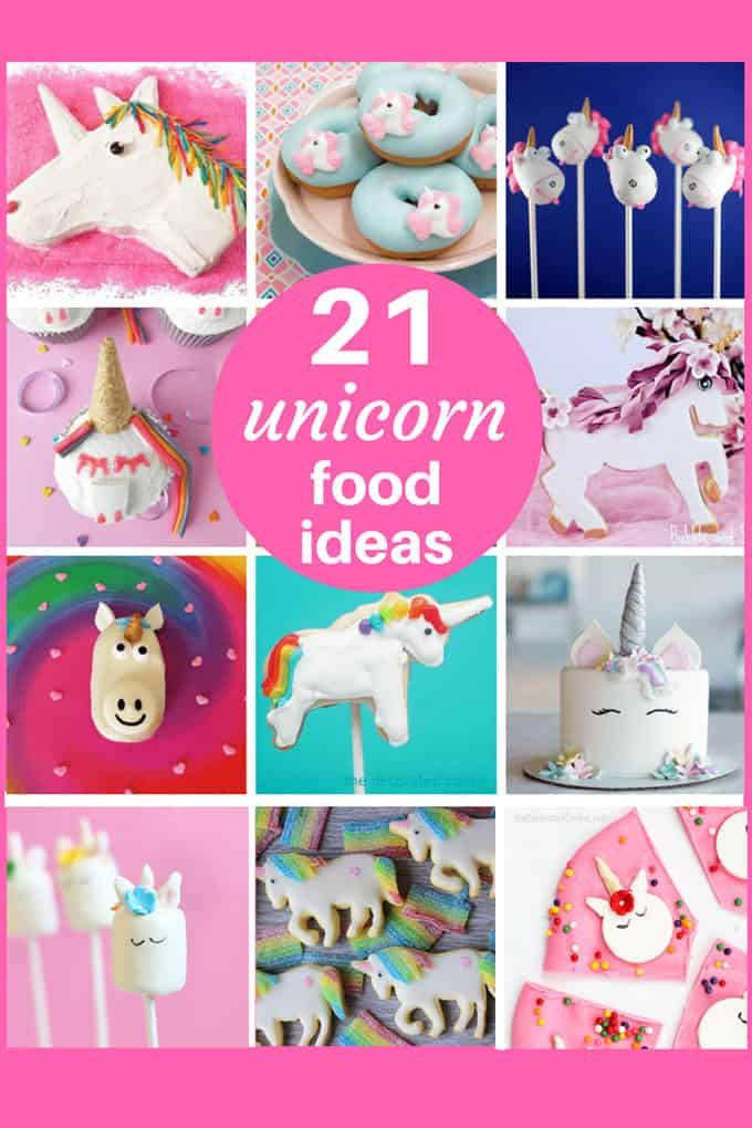 A roundup of awesome unicorn food ideas. #unicornfood #rainbow #unicornparty #rainbowparty