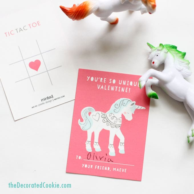 Valentine's Day classroom cards and toys