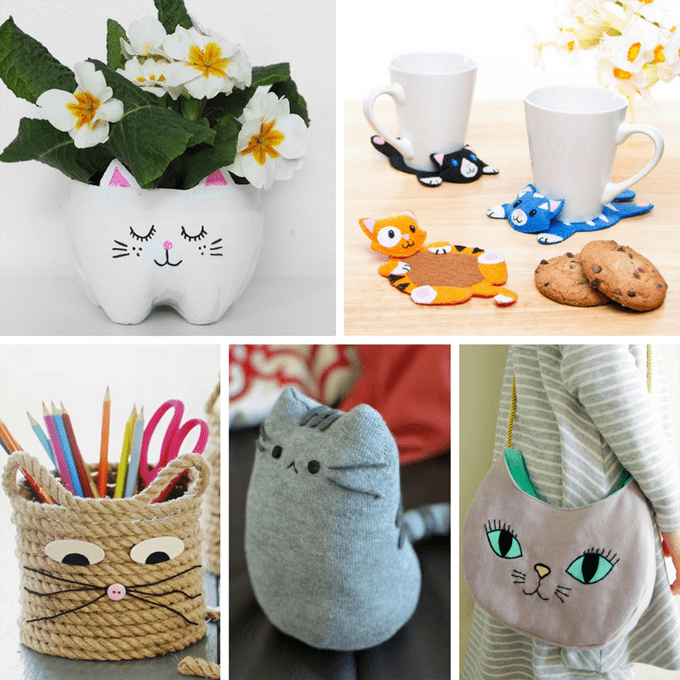 cute kitty cat crafts for crazy cat ladies