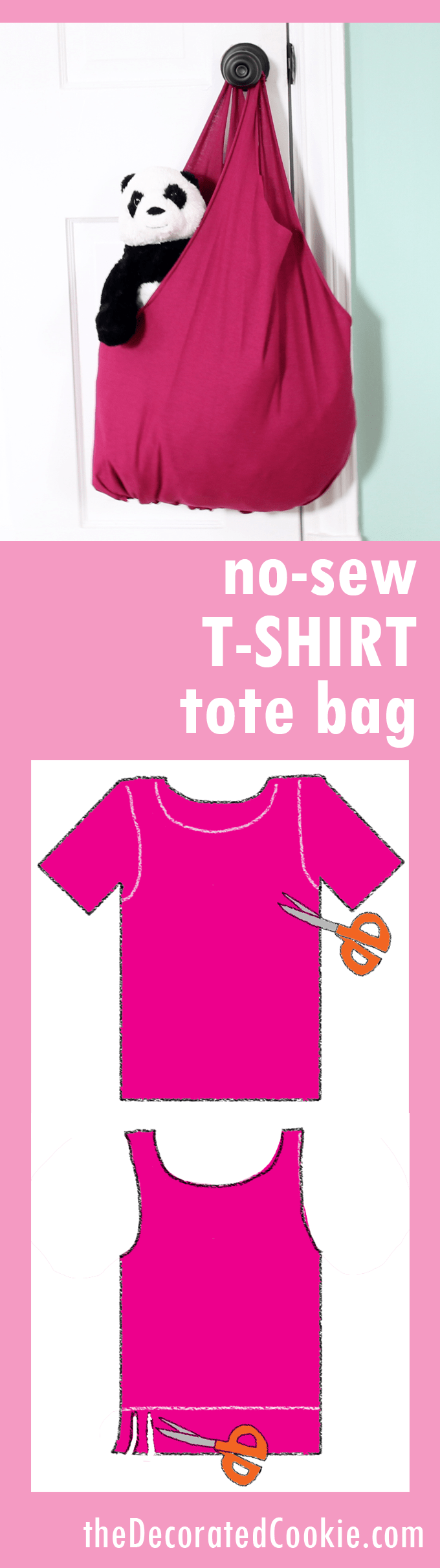 no-sew T-shirt tote bag