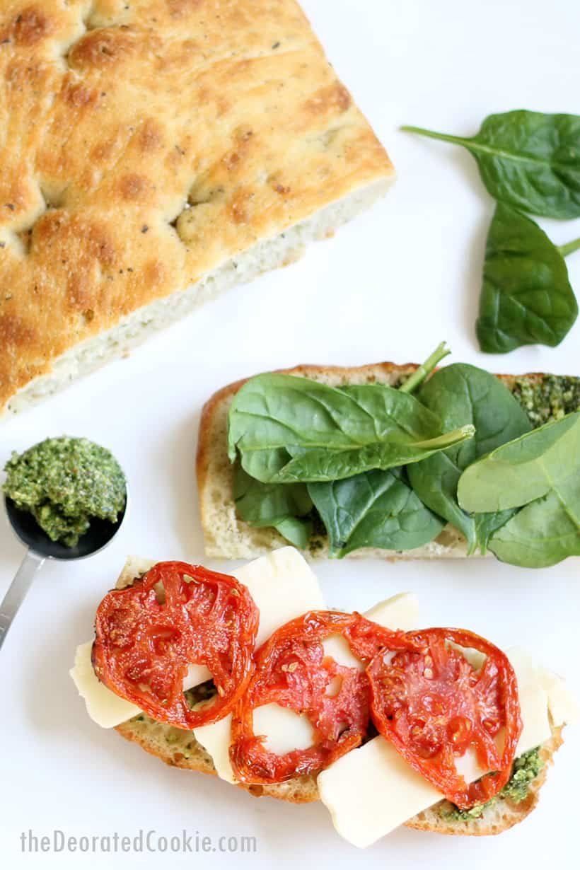 homemade recipe for the Starbucks panini sandwich with roasted tomatoes and mozzarella