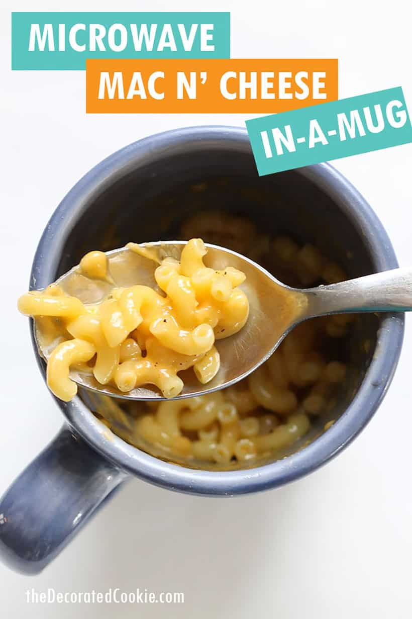 microwave mug macaroni and cheese