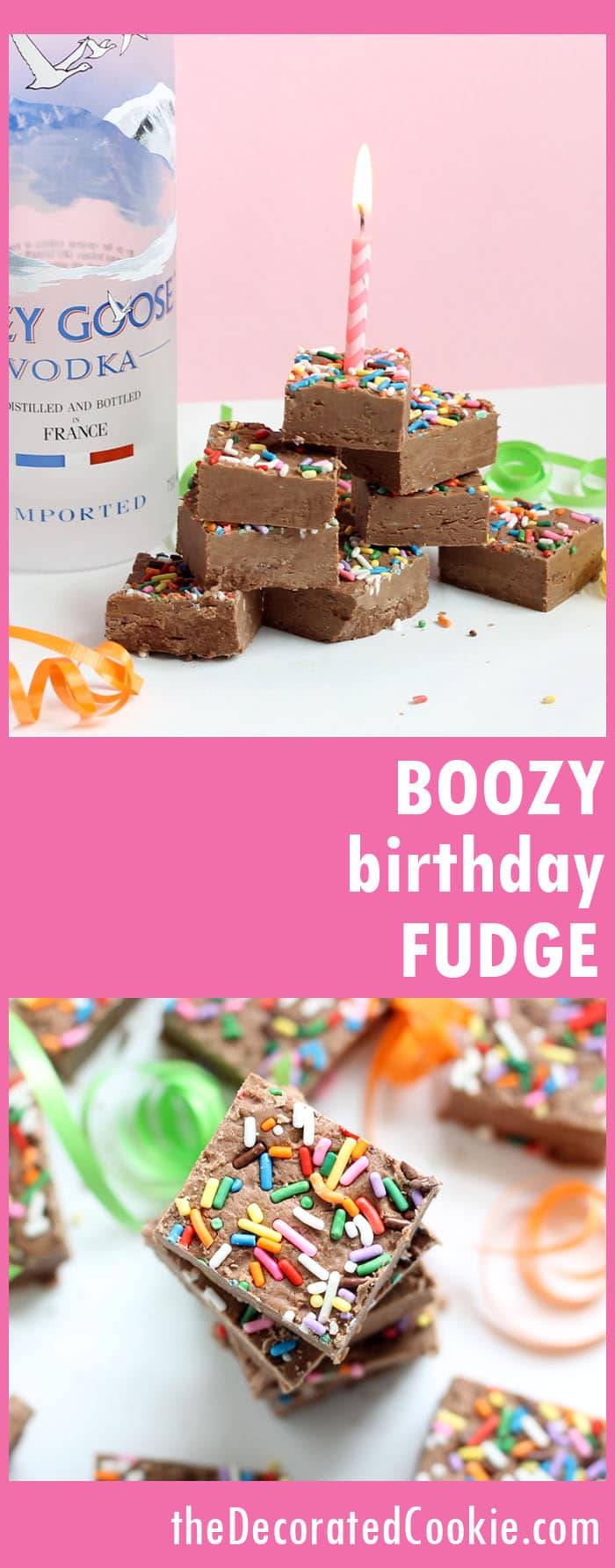 3-ingredient birthday boozy fudge with vodka
