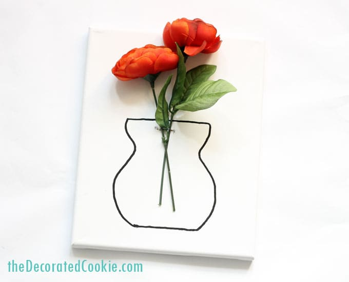DIY flower vase wall art