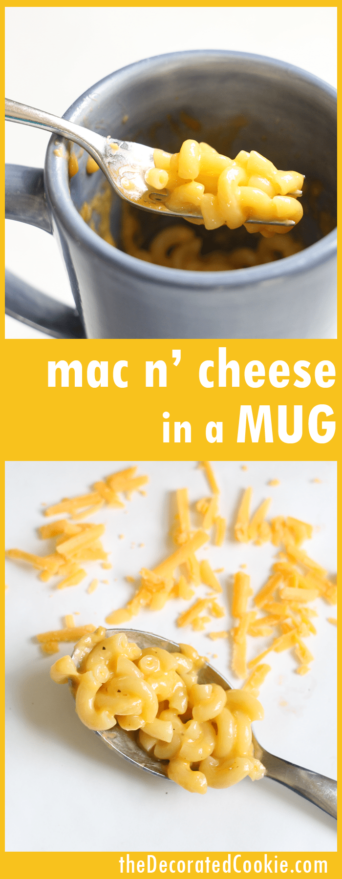 microwave mac and cheese in a mug