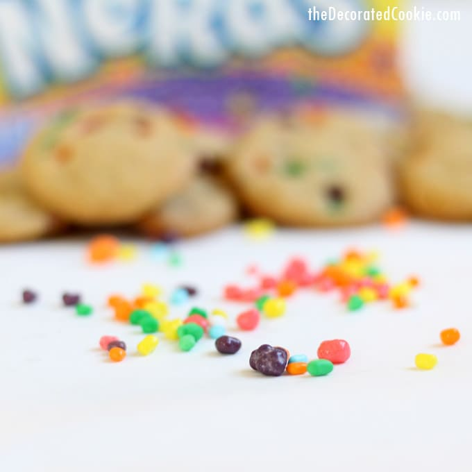 rainbow Nerds cookie bites