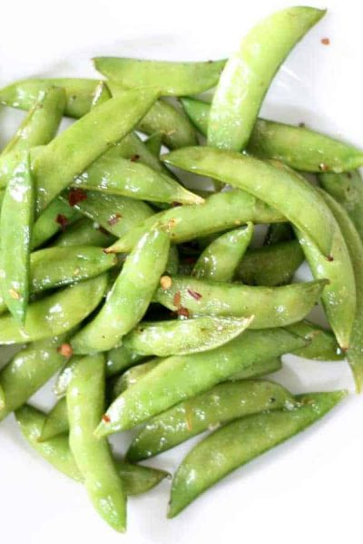 roasted snap peas -- easy side dish