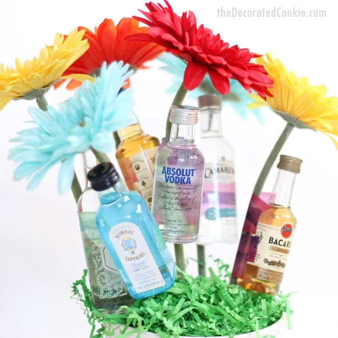 booze bouquet gift idea day birthday bridal shower
