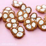 EASY Easter bunny pretzels