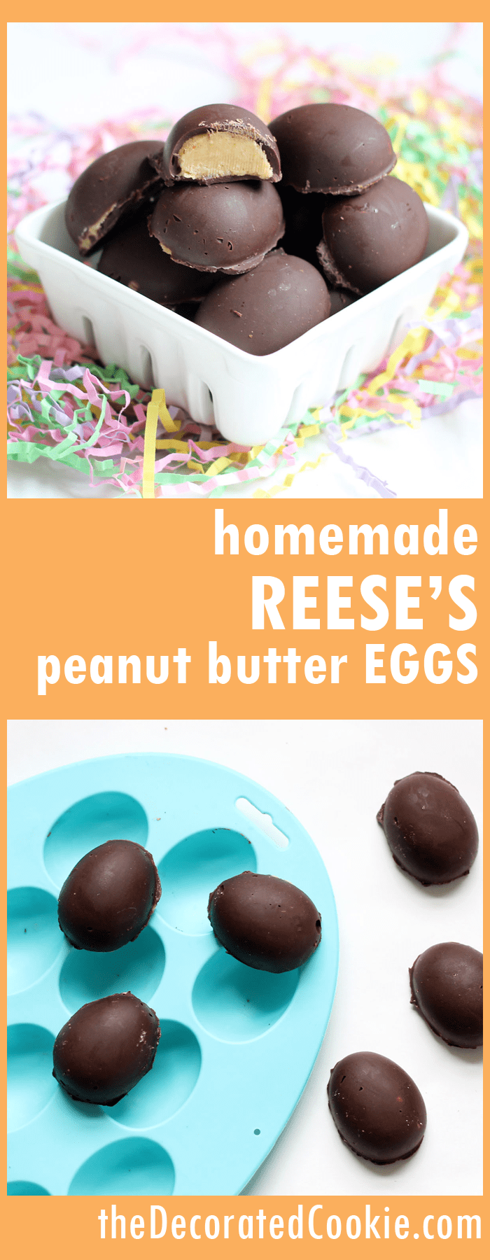 homemade chocolate peanut butter eggs -- copycat Reese's peanut butter eggs