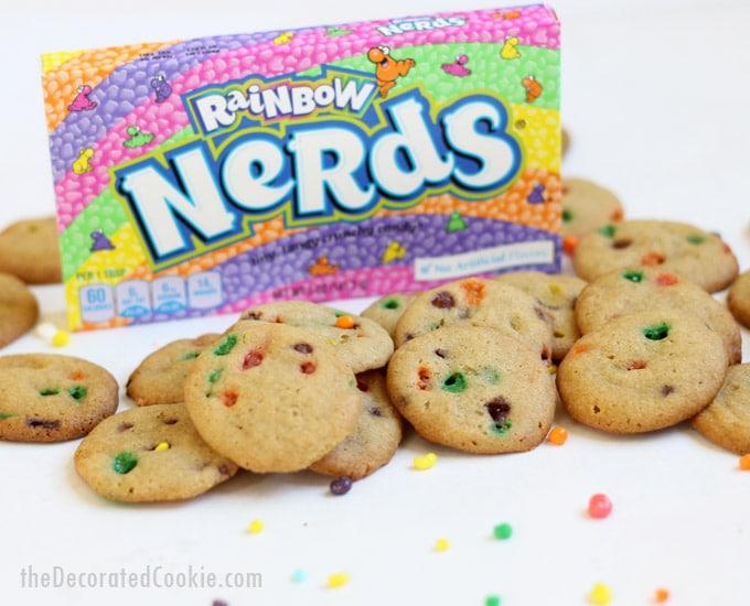 rainbow Nerds cookie bites