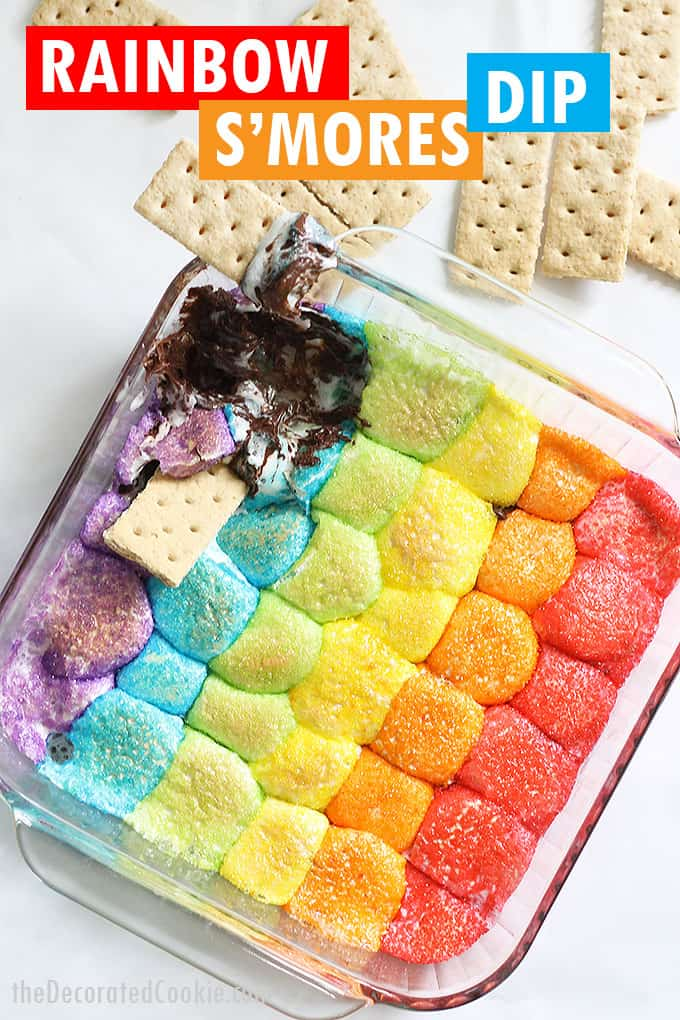 rainbow s'mores dip