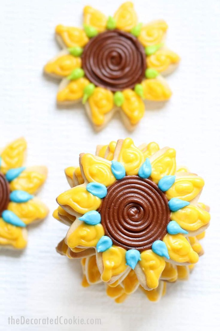 sunflower decorated cookies