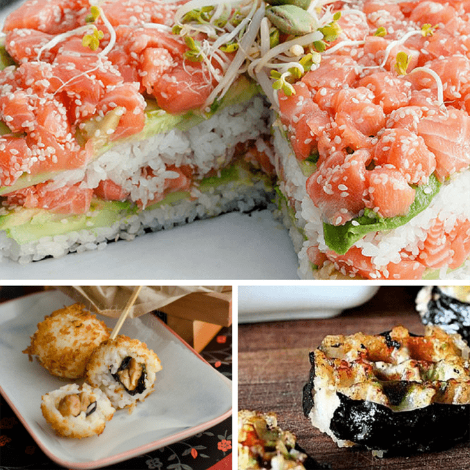 15 unusual ways to serve sushi