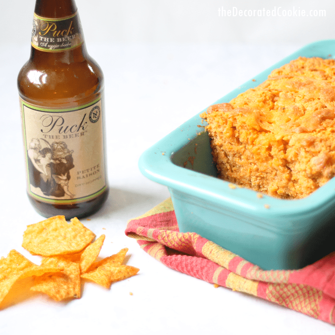 amazing DORITOS beer and cheddar bread -- best ever quick bread