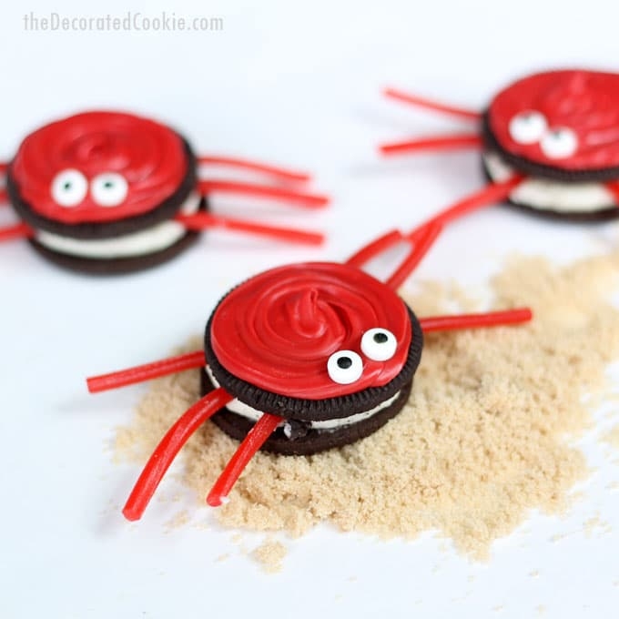 easy Oreo crabs -- summer food craft
