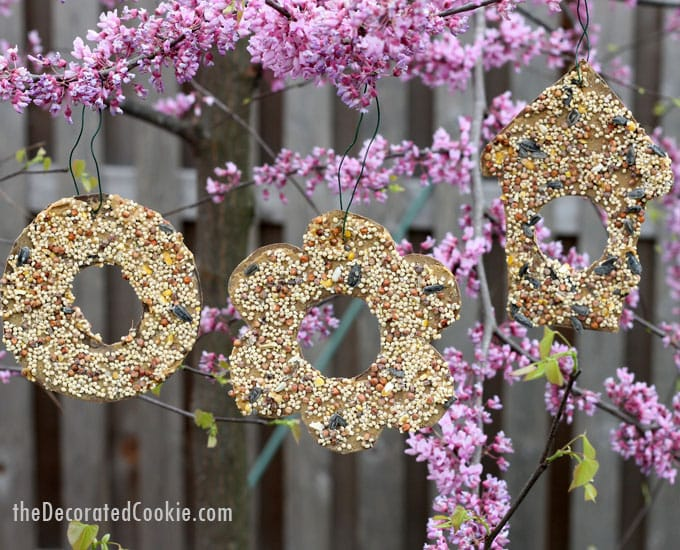 easy birdseed ornaments -- fun kid-friendly garden craft