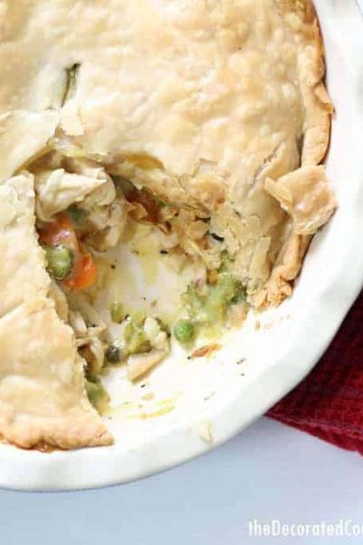 rotisserie chicken meal: easy chicken pot pie -- easy dinner