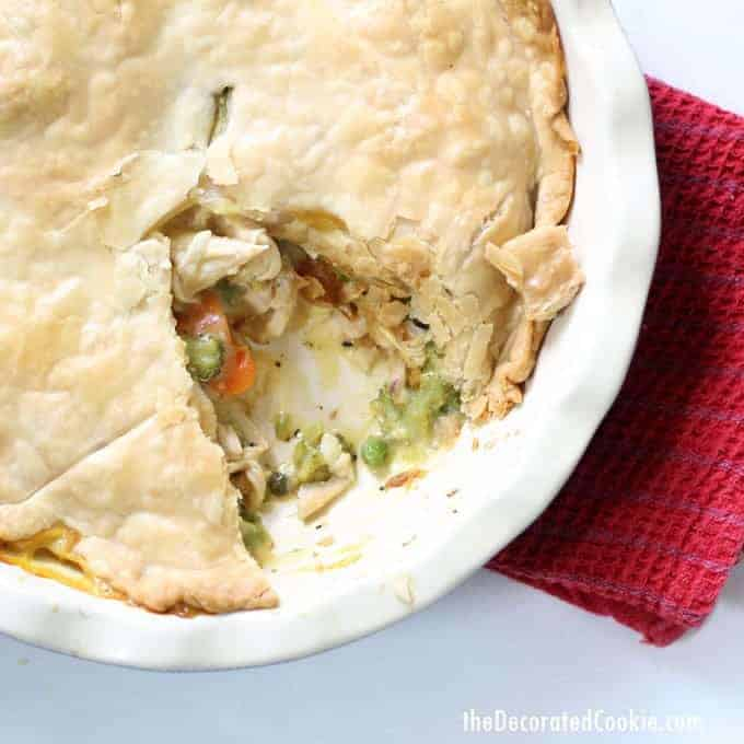 rotisserie chicken meal: easy chicken pot pie -- easy dinner