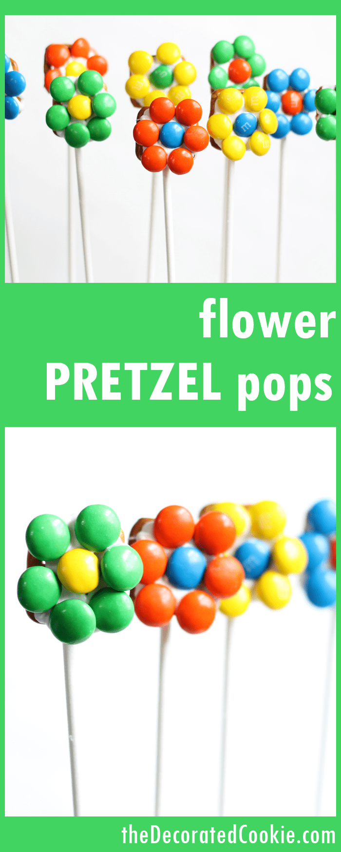 how to make flower pretzel pops -- with video how-tos