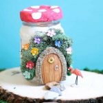 mason jar fairy house -- easy fairy garden craft for kids or adults -- with tea-lights inside -- video how-tos