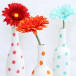 painted polka dot wine bottles