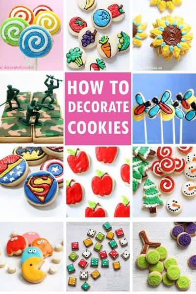 EASY COOKIE DECORATING -- Everything a beginner needs to learn how to decorate cookies. Recipes, piping instructions, flooding, and MORE.