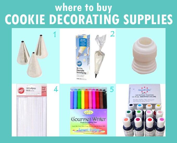 basic cookie decorating supplies