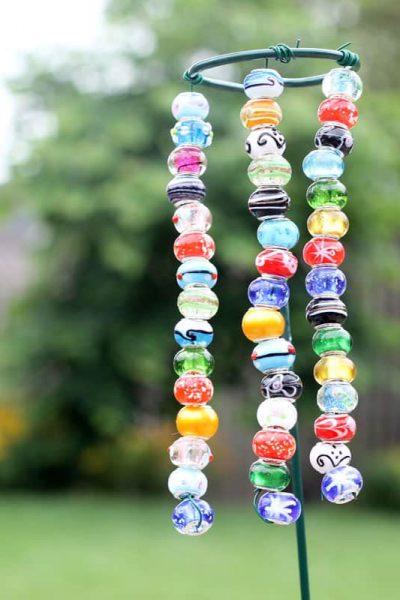 EASY beaded garden ornaments -- kids -- garden craft