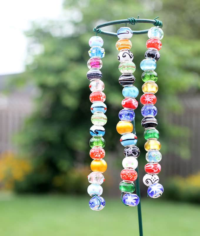 EASY beaded garden ornaments -- kids -- garden craft