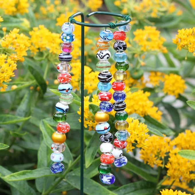 EASY beaded garden ornaments -- kids -- garden craft -- video how-tos